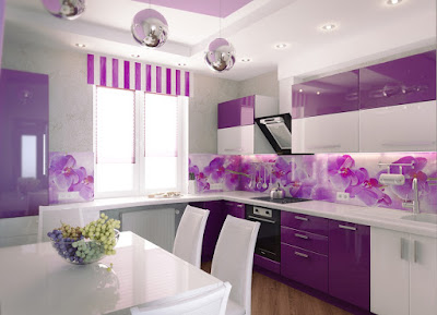 modern purple kitchen accessories cabinets designs wall paint color combinations 2019