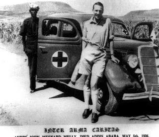 Dr. John Melly, leader of the British Red Cross expedition  to Ethiopia  (British Red Cross Museum & Archives)