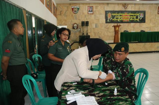450 Prajurit Kostrad Terima Pembekalan Materi dan Screening HIV / AIDS oleh Puskes TNI di Garut