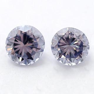 Violet Diamond Earrings