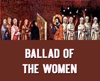 Ballad of the women - Hurry and light your lamps, for the day is done and the dark is falling. Watch and wait. It's getting late. Pretty soon now you'll hear the bridegroom calling. 1 Ten women. We surmise: five were foolish and five were wise. With a job to do and a watch to keep, all ten fell fast asleep. 2 At midnight came a shout: The bridegroom's coming and the lamps are out! The women rose to make the lanterns strong, but five had brought no oil along. 3 Give us oil from your supply. Not enough, they were told. You go and buy. The bridegroom came while they were gone. The rest joined the party and the feast went on. 4 The five who were caught off guard returned to find that the door was barred. It is us, they Cried, look what we've got. Go away, he said, I know you not. 5 Keep watch and be prepared. There are some things that must be shared. You will be ready when Christ returns, if the love you have is a love that burns. Final chorus: Hurry and light your lamps. Soon the Promised One will be returning. Watch and wait. It's getting late. Be sure, very sure, that your lamps are burning!
