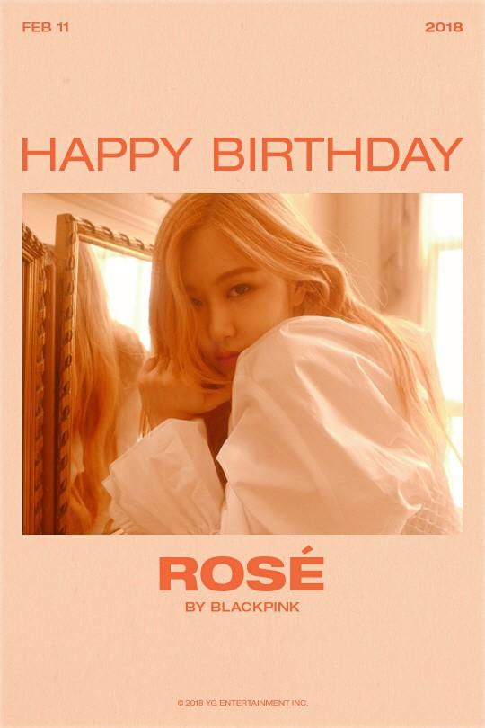 BIRTHDAY POSTER FOR ROSÉ - BlackPinkbuzz