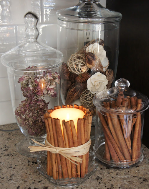 Cinnamon DIY candle