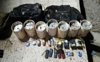 القوات المسلحة العراقية  تعثر على حزام ناسف شرقي الفلوجة !