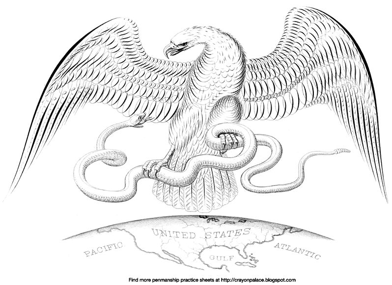eagle and snake coloring pages - photo #5