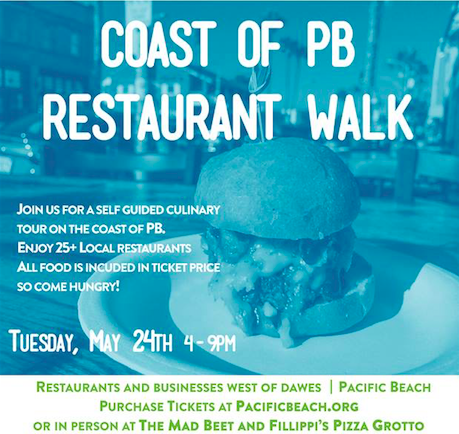 The Coast Of Pacific Beach Restaurant Walk Returns On May 24 Enter To Win 2 Tickets