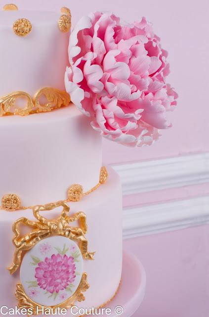 Torta de peonías