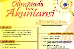 Olimpiade Akuntansi XX UGM Tingkat SMA,SMK dan MA Nasional 2018