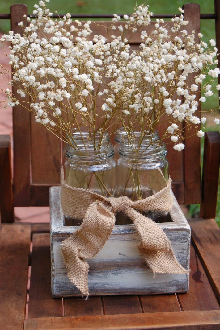 DIY rustic wedding centerpiece