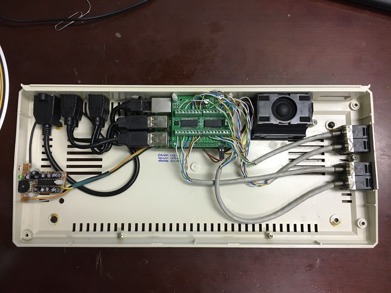 Atari 600xl To Raspberry Pi Retro Gaming Mod Project 2017 Wiring Diagram I Decided Let My Boys Do Their First Soldering And Make Own Arcade Controllers Im Going Get Them Each A Briefcase Act As Lap
