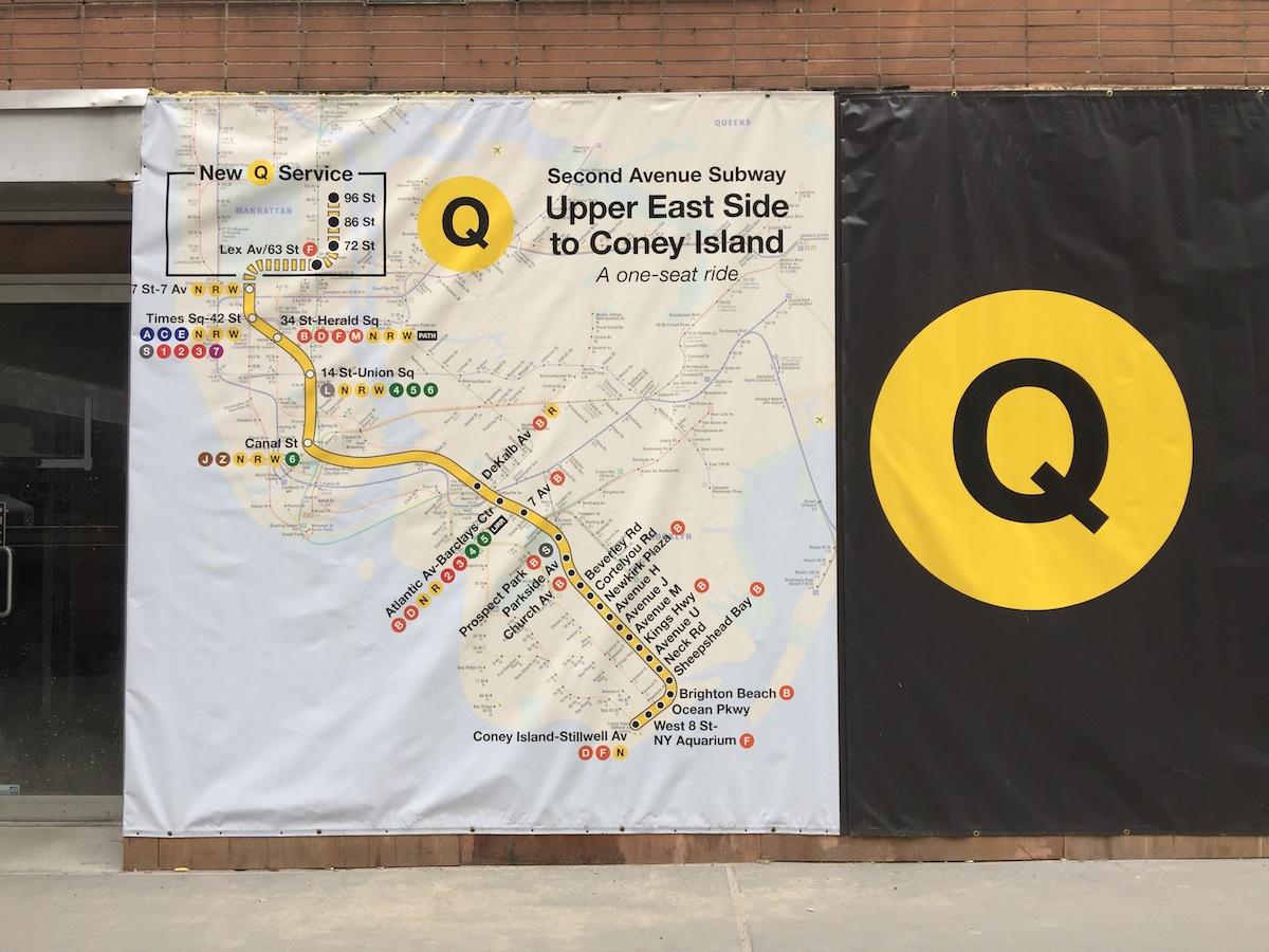 Q Second Avenue Subway Map.Walking Off The Big Apple A Guide To The Second Avenue Subway
