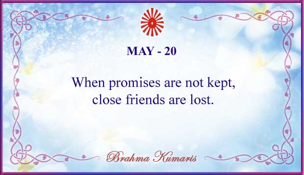 Thought For The Day May 20
