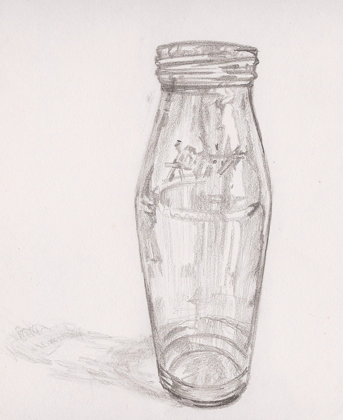 It's just an image of Enterprising Drawing Of Bottle