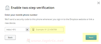 How to Enable 2 Step Verification For Dropbox