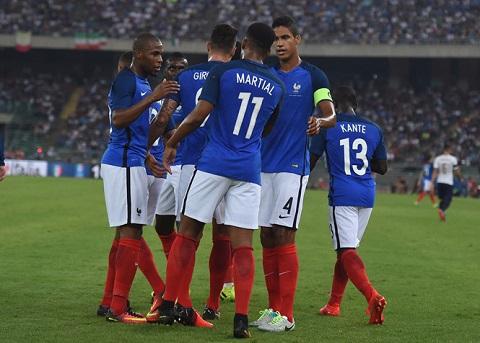Đội hình tuyển Pháp có nhiều tài năng trẻ