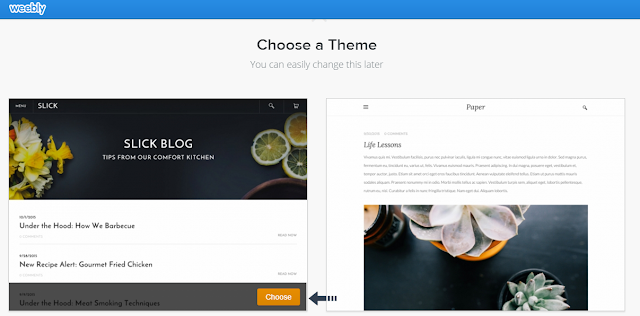 select weebly theme