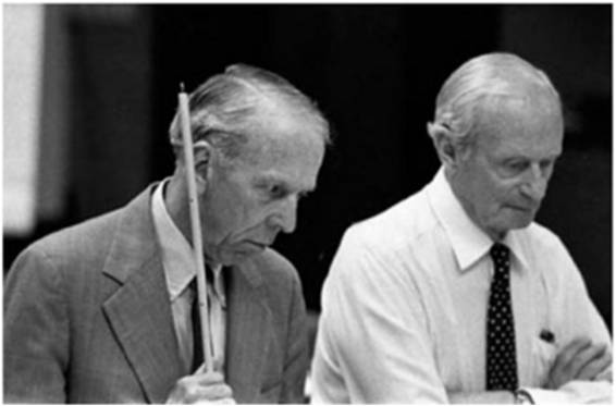 DePuy και von Mellenthin κατά τη διάρκεια του συνεδρίου