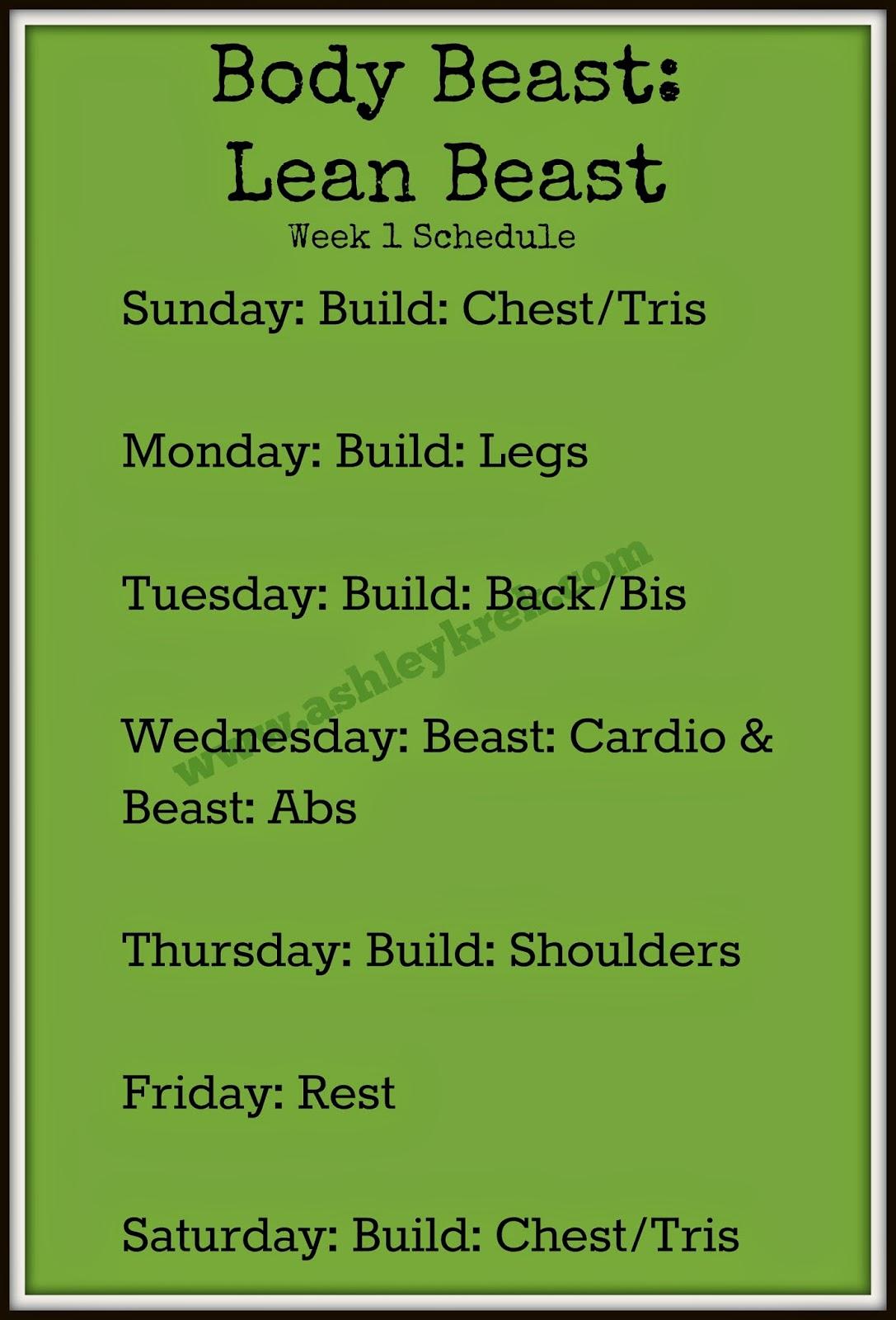 Ashley Krek Body Beast Week One Results