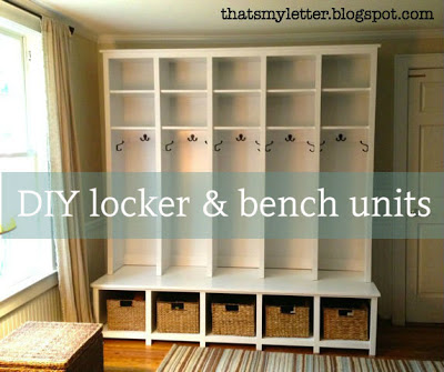diy locker and bench cubbies free plans