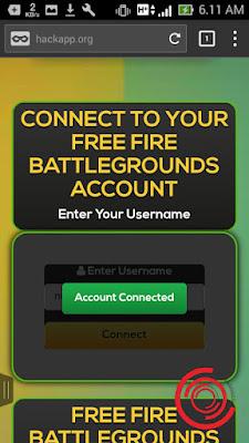 Bukti jika akun Free Fire kalian sudah terhubung dengan ceton.live/ff/ Free Fire Battlegrounds adalah terdapat tulisan Account Connected berwarna hijau