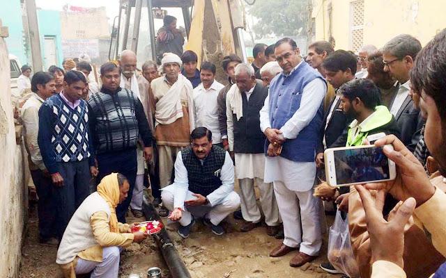 MLA Tichchand Sharma inaugurated several development works under Mahagram Yojana in Sooti