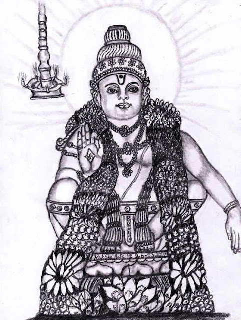 PENCIL DRAWING -  SWAMMY AYYAPPAN