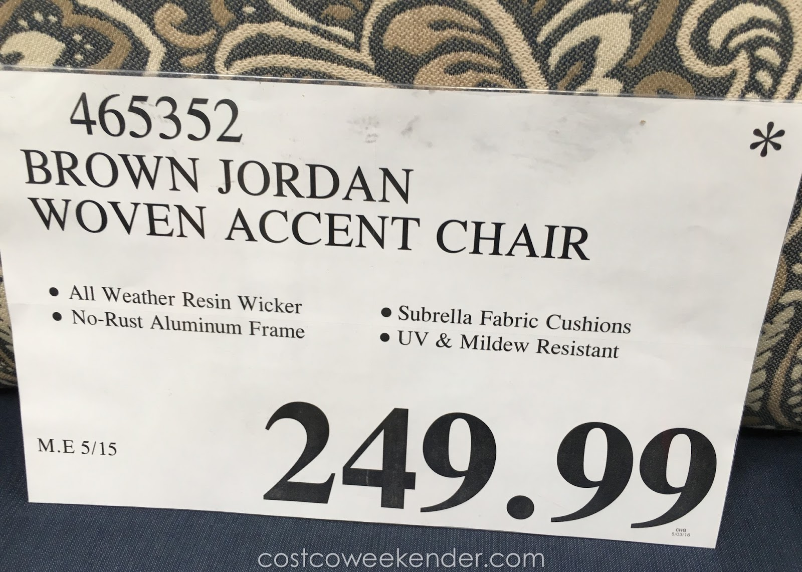 Fine Studio By Brown Jordan Woven Accent Chair Costco Weekender Pabps2019 Chair Design Images Pabps2019Com