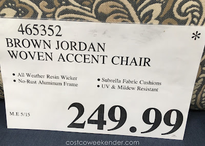 Deal for the Studio by Brown Jordan Woven Accent Chair
