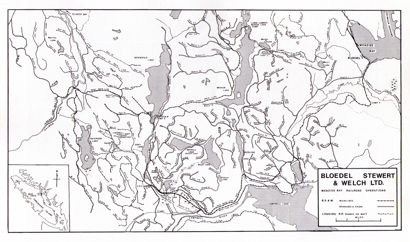 Illahie Some Maps Of Vancouver Island Railways