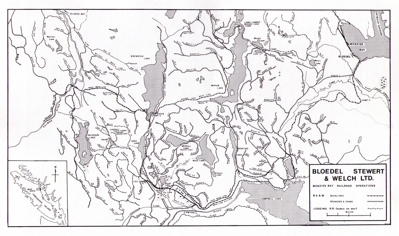 Illahie Some Maps Of Vancouver Island Railways