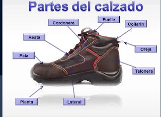 Partes del calzado de seguridad