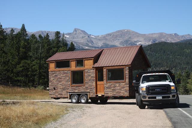tiny house stone cottage