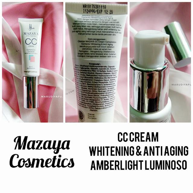 Mazaya CC Cream Whitening & Anti Aging