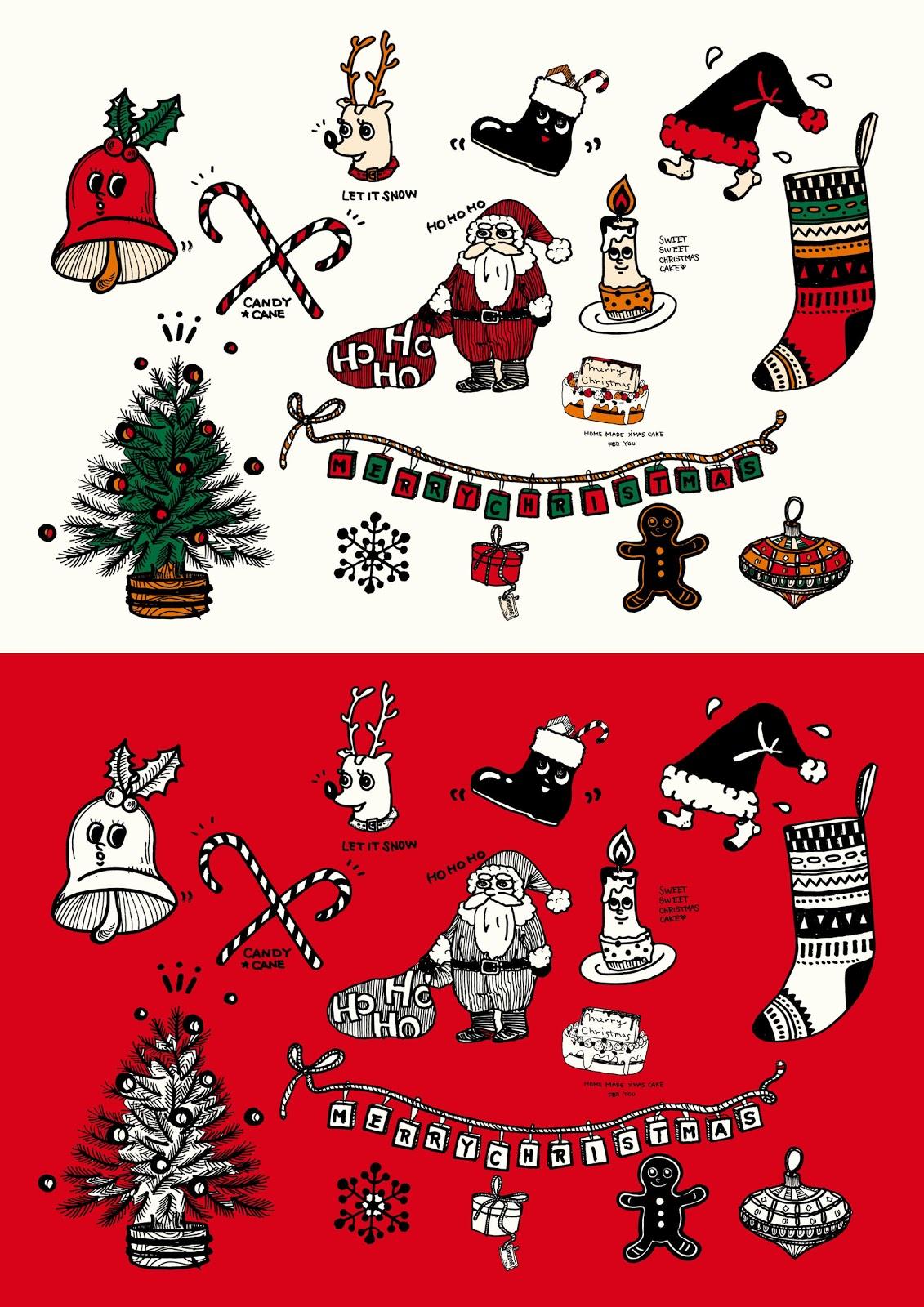 クリスマスの手書きイラスト配ってます! - diy集客tips | 店頭販促popを