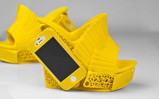 Printed Heels Shoes
