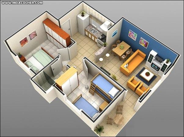Casa de dois quartos e um banheiro 1