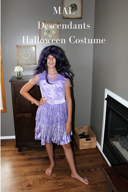 Mal Descendants Halloween Costume, costumes, for kids, for tweens, mal DIY, DIY, costumes, crafts, Halloween, movies, Descendants 2