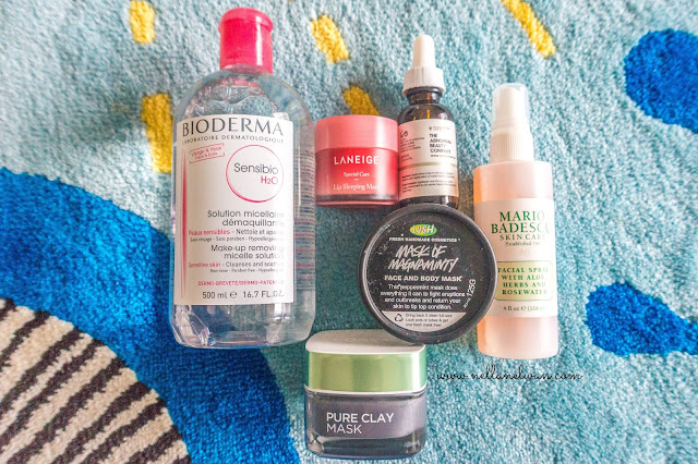 skincare haul bioderma the ordinary mario badescu lush nellanelwan