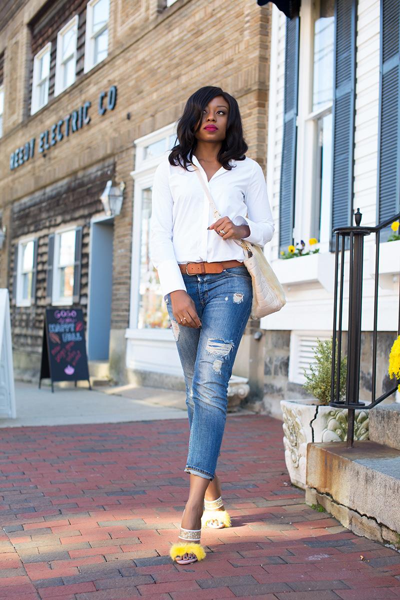 Boyfriend jeans, sophoa webster shoes, Etienne Aigner bag