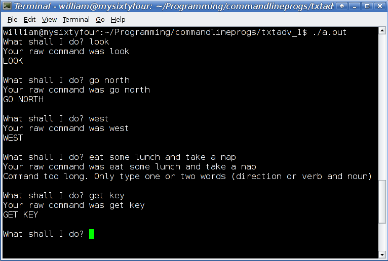 Playing With C++ Programming: Text Adventure Games C++ Part 1