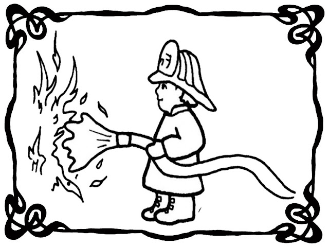Fire Engine Officer Coloring Pages