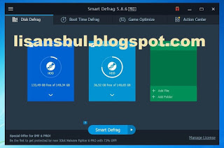 Smart-Defrag-Pro-5.8.6 License Key 1 Years 2019
