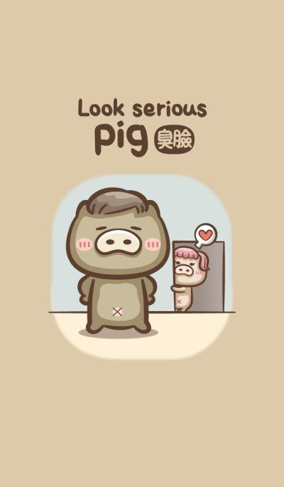 Look serious pig