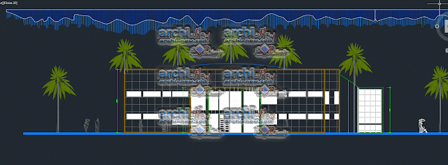 Eastern facade Auditorium dwg