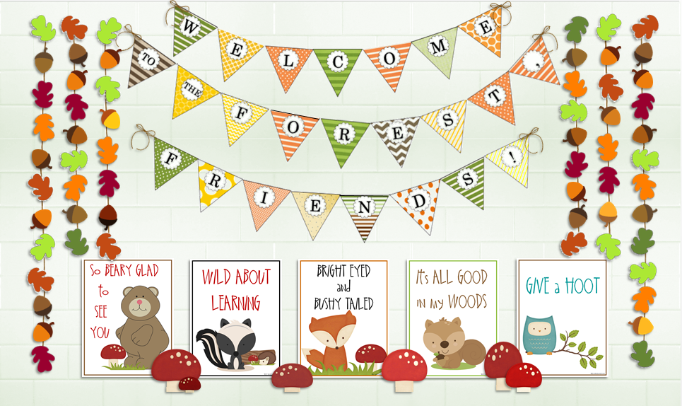 Classroom Decoration Forest : It s about time teachers forest friends classroom theme