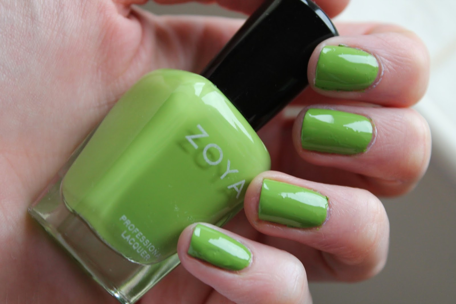 Zoya Nail Laquer Polish - Tilda Green Tickled Collection Swatch