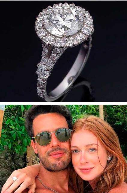 Marina Ruy Barbosa, anel de noivado, com Xandinho Negrão