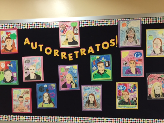 Foreign Language Classroom Decorations ~ Teaching spanish w comprehensible input autorretratos