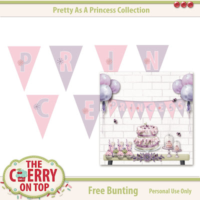free Princess bunting from The Cherry On Top