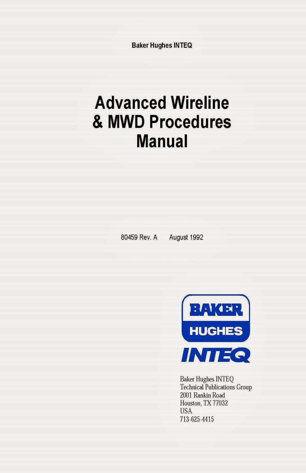 Title : Baker Hughes Advanced Wireline & MWD Procedures Manual ...